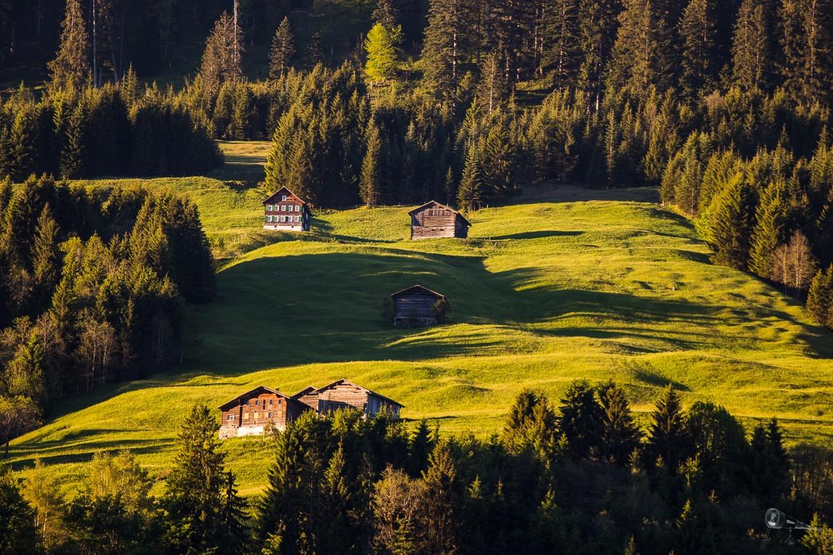 Großes Walsertal im Morgenlicht