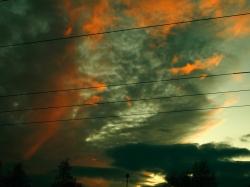 Ein Hauch von Sonne - Sonnenuntergang in Kaufering