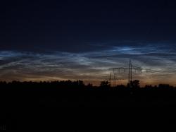 3. Juli 2014: leuchtende Nachtwolken über Igling