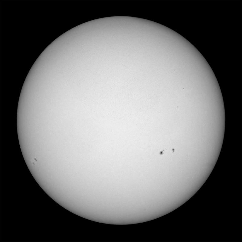 12. September 2015: Gesamtsonne Weißlicht