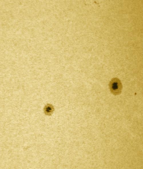 27. Juli 2012: Sonnenflecken AR 1529 / 30