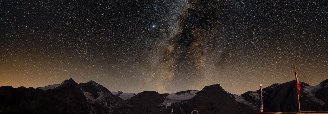 Milchstraße über dem Großglockner
