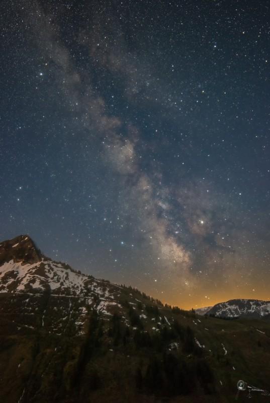 Milchstraße bei Dämmerung