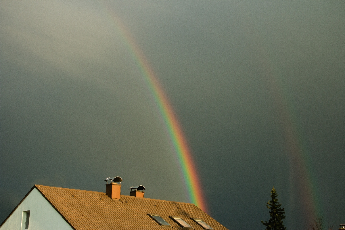 10. März 2013 Regenbogen über Kaufering