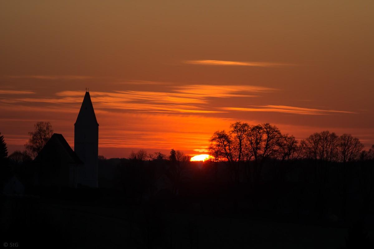 21. April 2015 Sonnenaufgang über Epfenhausen