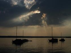 26. Juli 2006 Wolkenstrahlen über Herrsching