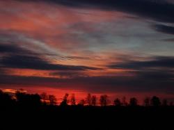 Sonnenuntergang über St. Ottilien