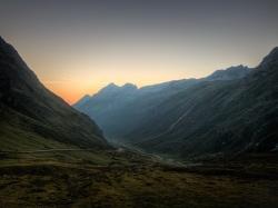Sonnenaufgang über Galtür