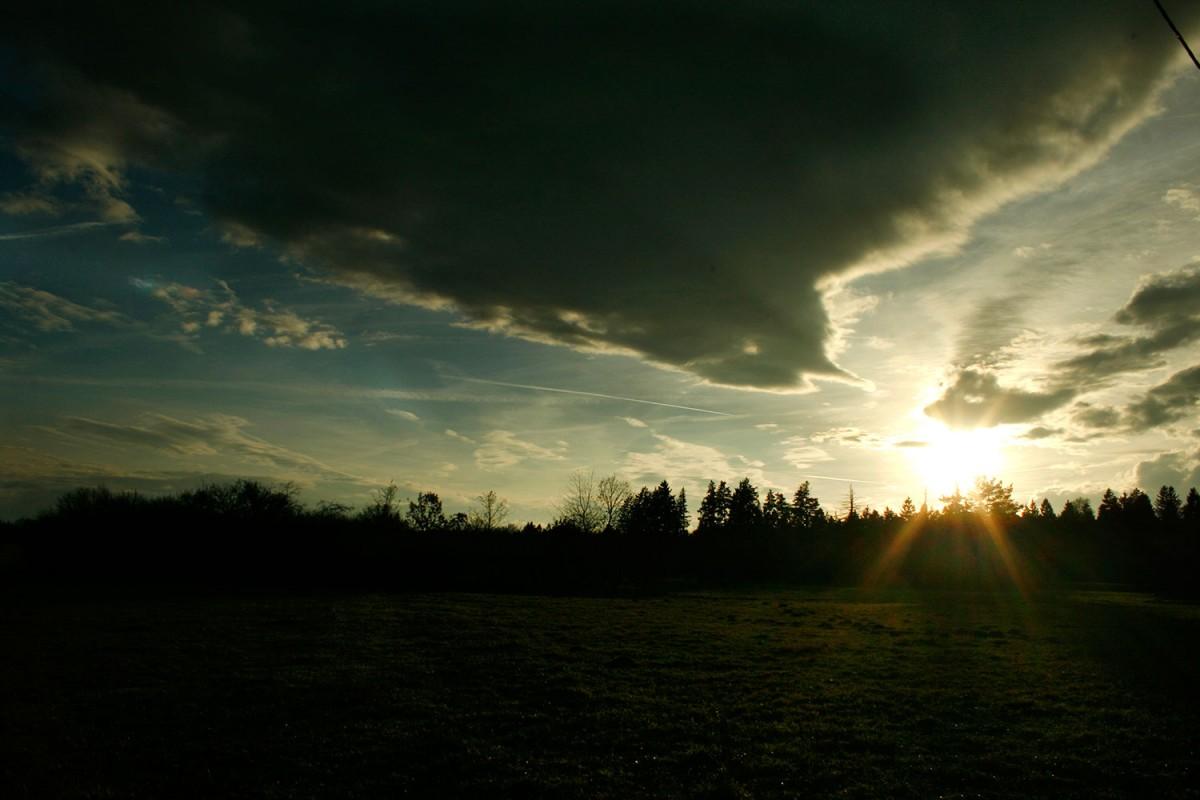 25. November 2012 Sonne und Wolken über dem Lechrain