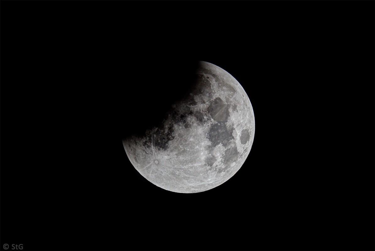 Mondfinsternis 28. September 2015 partielle Phase