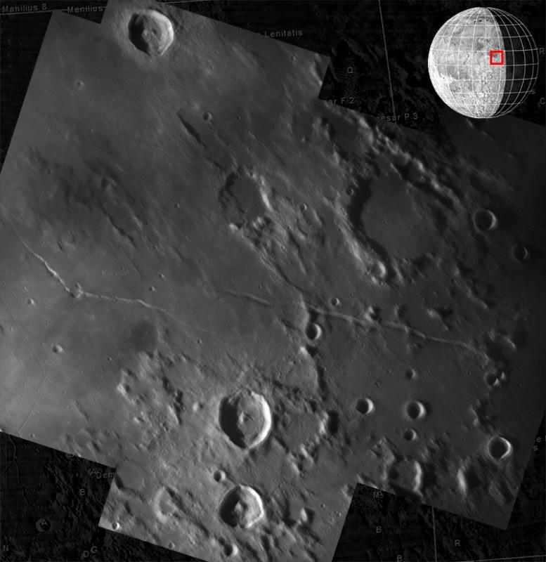 8. Oktober 2012: Mondkrater: Julius Caesar, Agrippa, Godin, Rima Ariadaeus