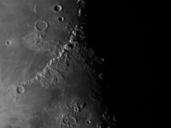 04. März 2013: Mondgebirge: Montes Alpes, Caucasus und Apenninus