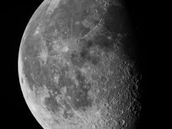 28. Juli 2013 Mond bei 65% abnehmend