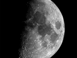 9. März 2014: Mond bei 61% zunehmend