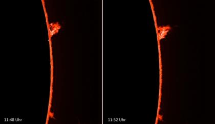 9. März 2012 - Entwicklung einer Protuberanz