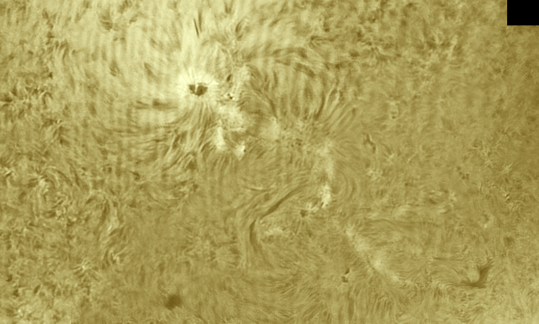 14. April 2013: AR1721-22 in H-Alpha