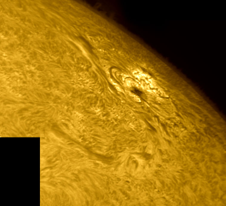 8. September 2012 AR1562 in h-alpha
