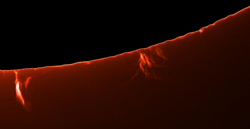 21. Oktober 2012: Protuberanzen