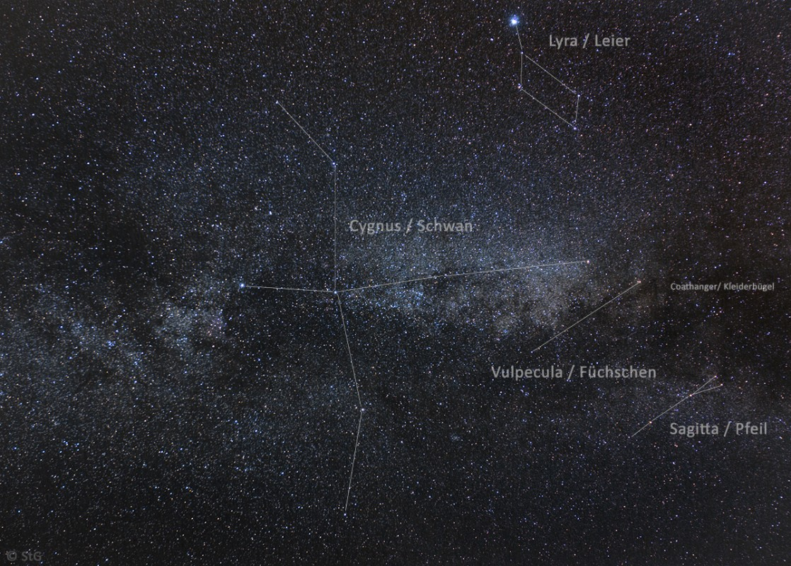 Milchstraße im Sternbild Schwan