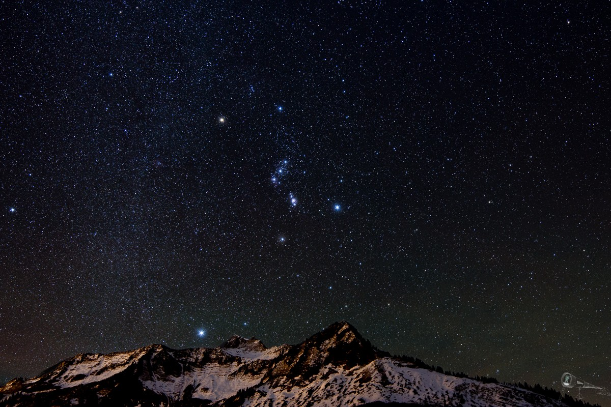 Orion über dem Glatthorn