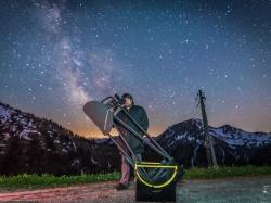 Der Astronom am Furka