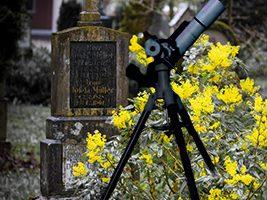 Friedhof der teleskope: ehemaliges equipment stefans